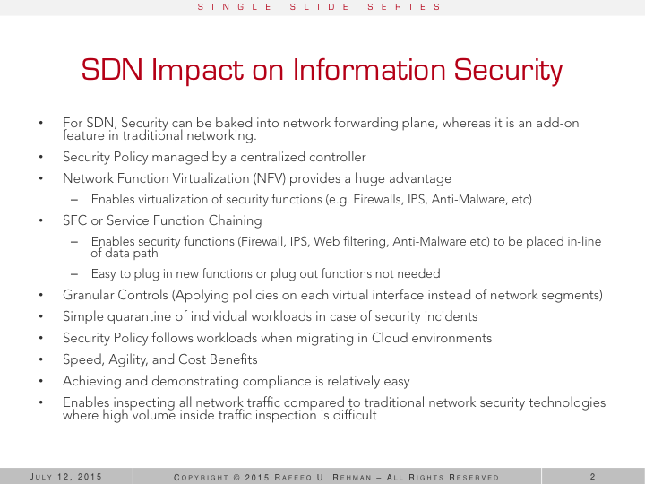 SDN and Information Security